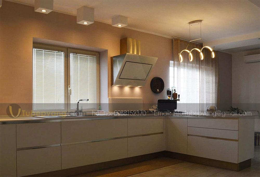 tủ bếp gỗ mdf chống ẩm