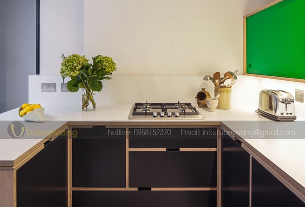 tủ bếp hiện đại gỗ plywood