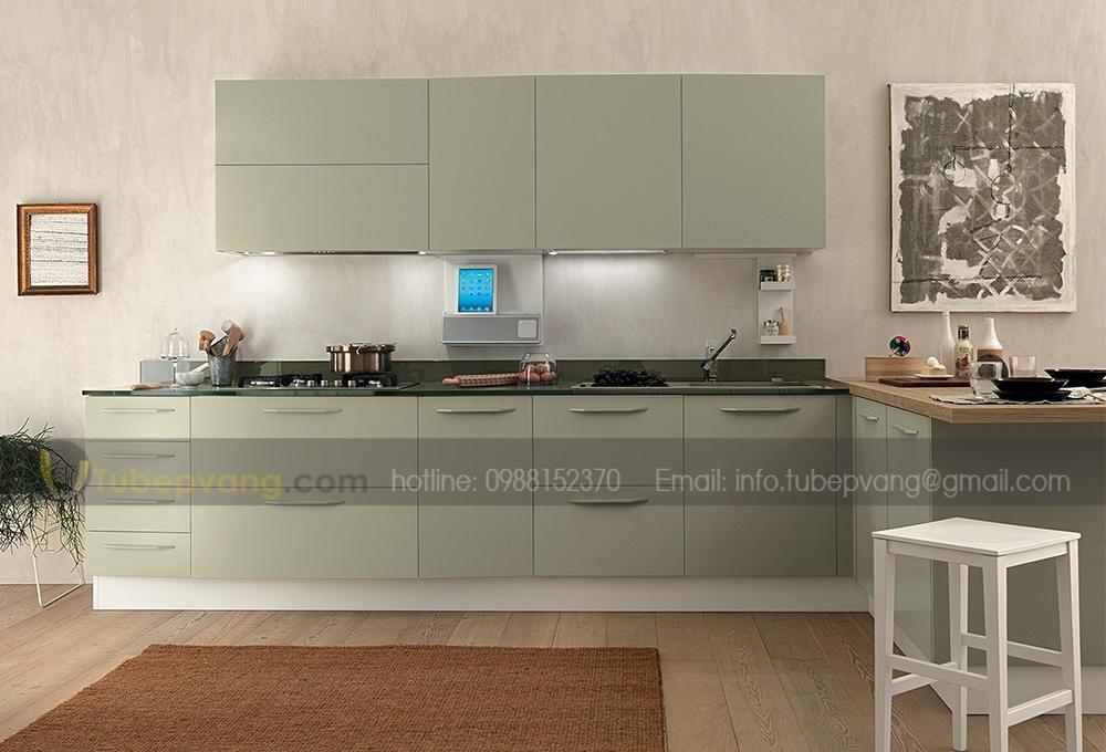 Tủ bếp MDF hiện đại